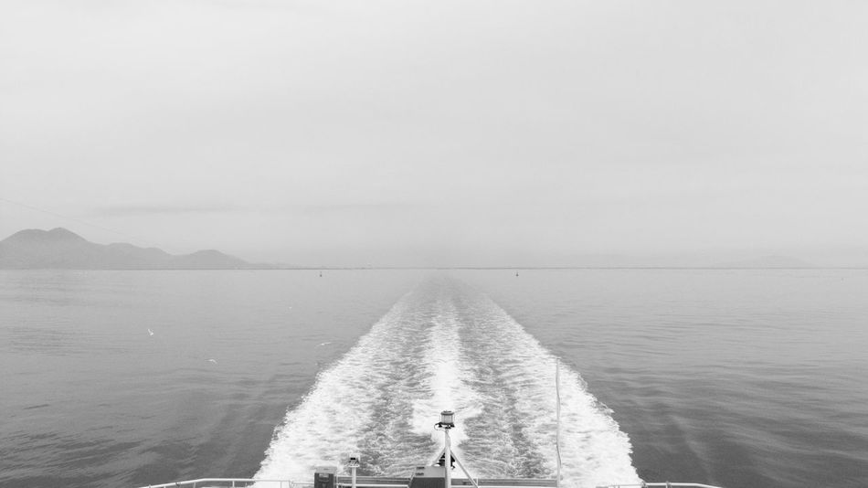 Wake Ferry Views Monochrome Tranquility Black And White Nature Horizon Over Water Bird Tranquil Scene Scenics Sea Wake Water Clouds Sky Beauty In Nature Calm GR DIGITAL Ⅱ Ferry Calm Sea Day Japan