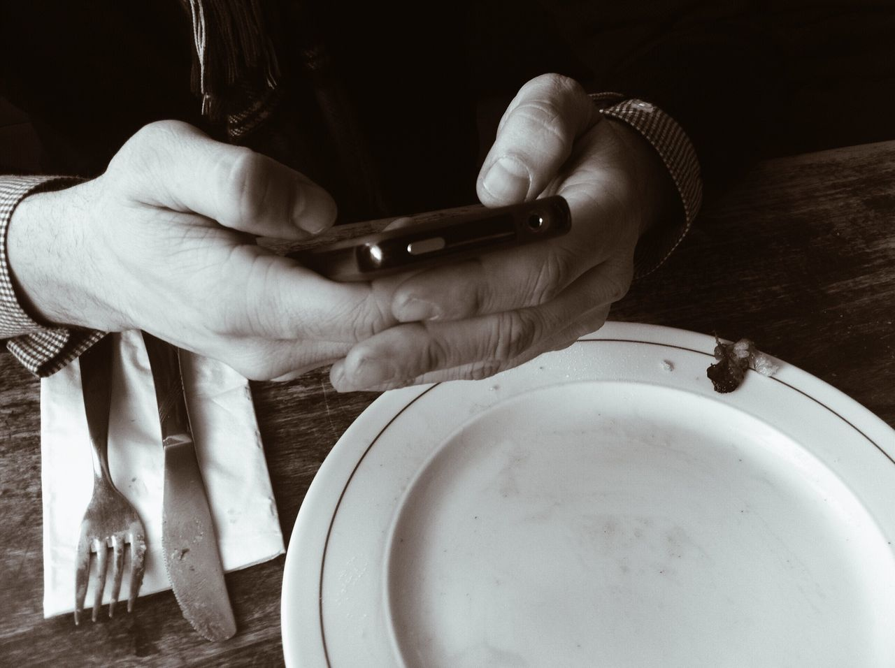 Mobile Conversations Human Hand Human Body Part Real People One Person Indoors  Holding Lifestyles Close-up People People Photography Blackandwhite Monochrome EyeEm Best Shots - Black + White Smartphone Food And Drink