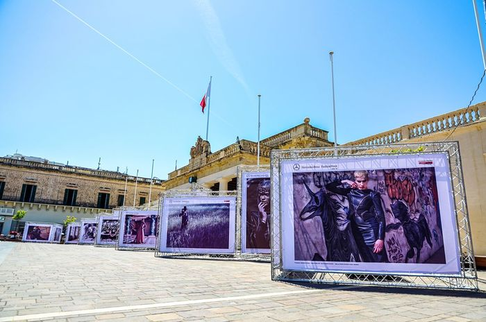 Perspective and advertising in Valletta, Malta's capital. Valletta Malta Perspective Linear Perspective Marketing Billboard Advertising Adverts Advertisement Billboards Public Square Summer Blue Sky Architecture Europe Mercedes Benz Industrial Travel Branding Brand Marketing Strategy