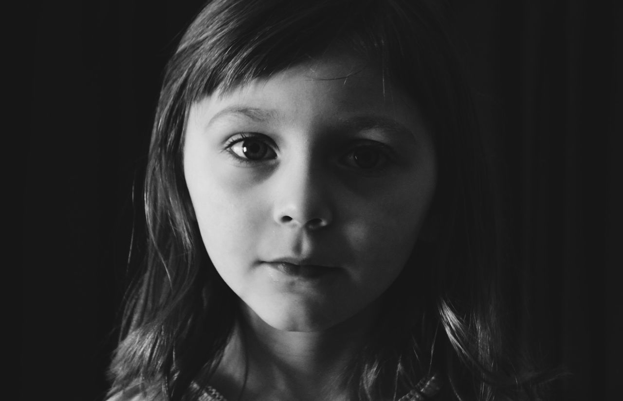 Beautiful stock photos of black background, Black Background, Caucasian Ethnicity, Childhood, Cute