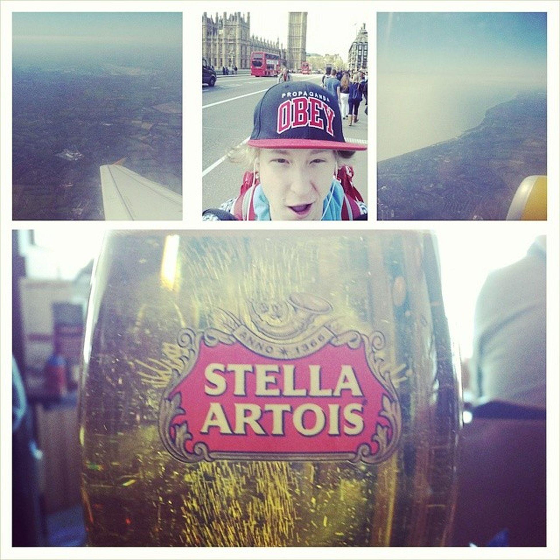 Byebyelondon Airportbeers Selfie Barcelonahereicome goodday