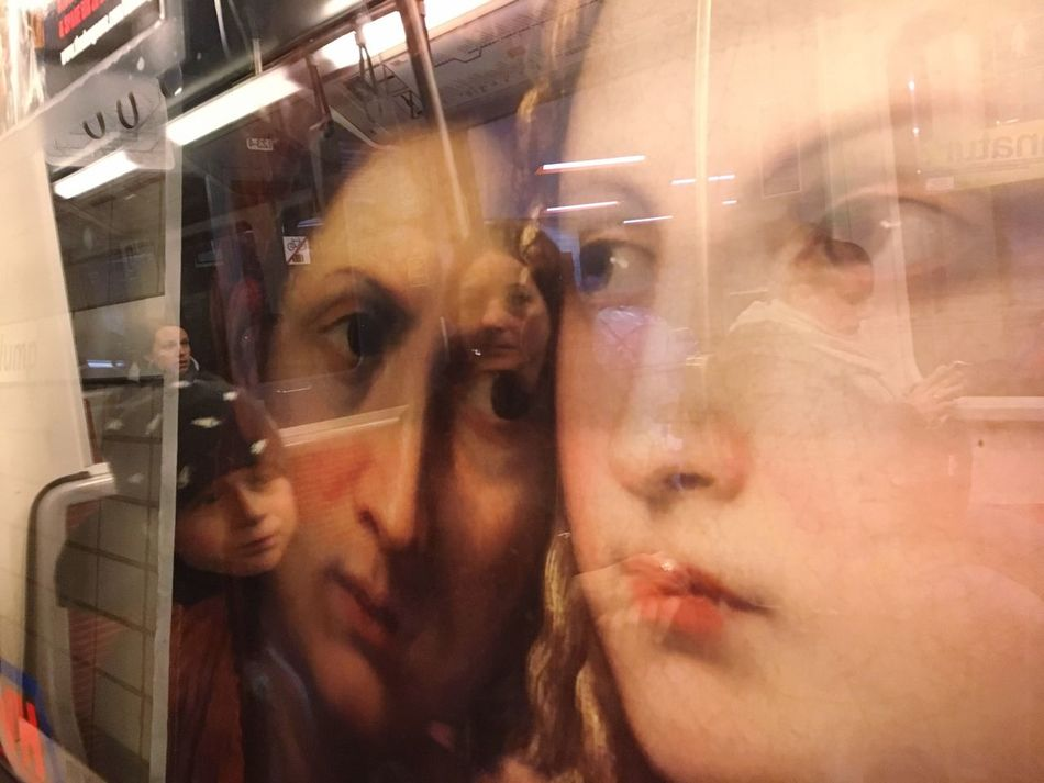Underground reflections... Art Is Everywhere Reflection Real People Indoors  Window Lifestyles Leisure Activity Young Adult Day One Person Young Women Close-up People Underground Urbanphotography