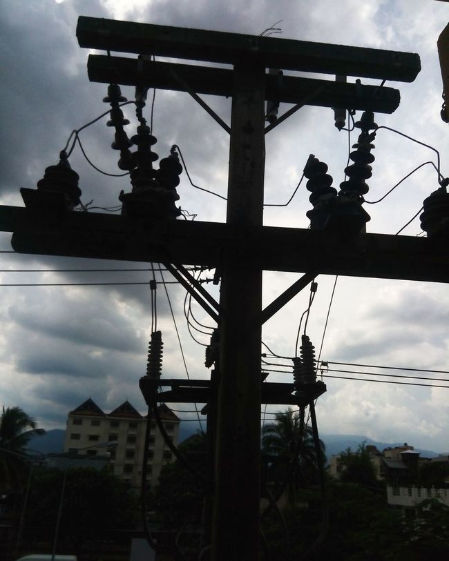 Silhouette Sky Low Angle View Cloud - Sky Built Structure Architecture Cloud Growth Outdoors Day Cloudy Power Line  No People