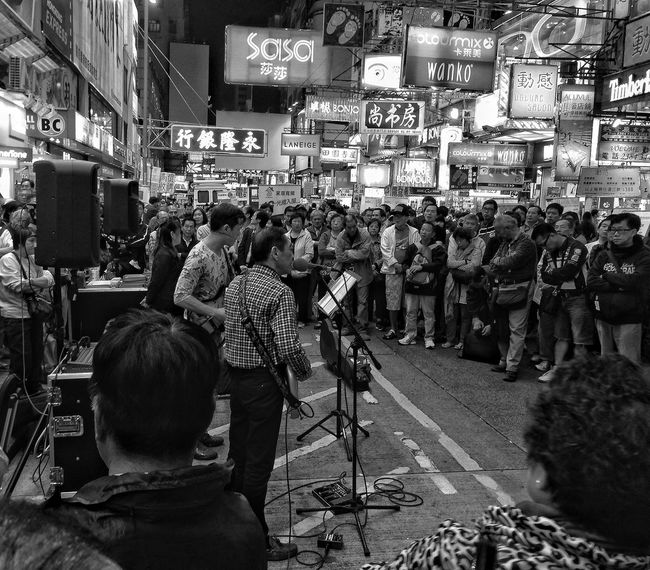 Music is forever, so is Hong Kong. Arts Culture And Entertainment B&w Band Black & White Black And White Black And White Collection  Black And White Photography Black&white Blackandwhite Blackandwhite Photography Blackandwhitephotography Blacknwhite Crowd Hong Kong Mong Kok Mongkok Music Music Brings People Together Music Brings Us Together Music Brings Us Together. Musician Performance Public Singer  Singers