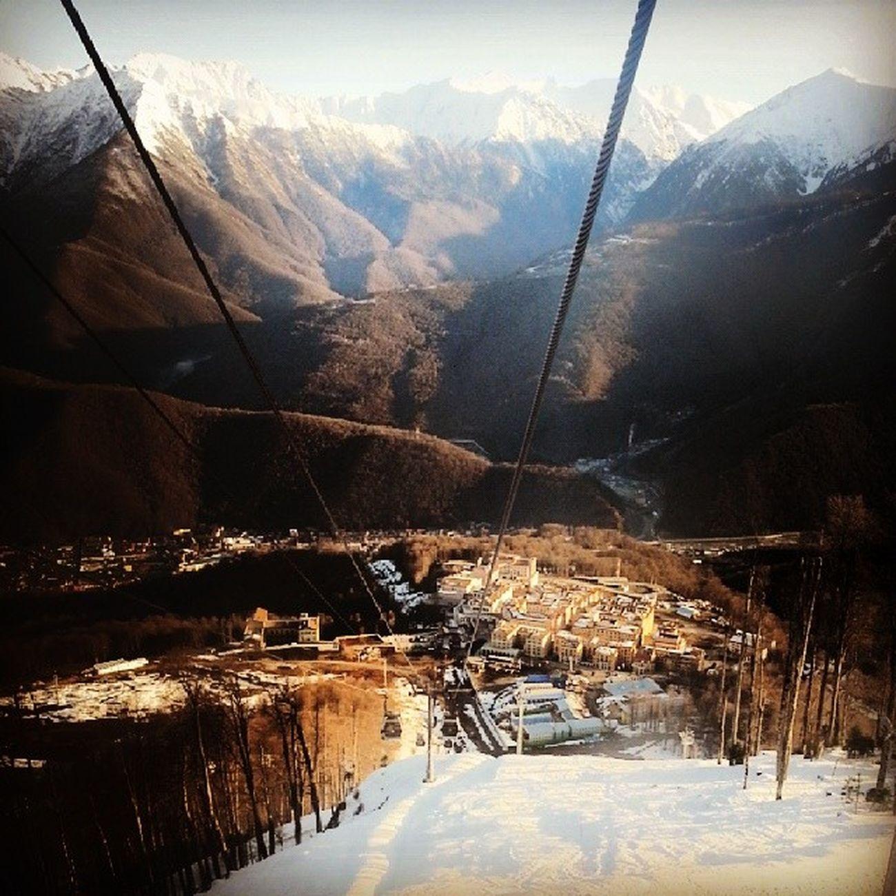 yukari yukari daha da yukari Mountains Mountains And Sky Krasnaya Polyana Sochi Adler Funicular