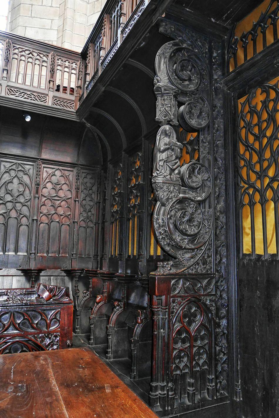 Choeur de la Collégiale Notre-Dame de Villefranche De Rouergue Architecture Built Structure Indoors  No People Church Churchporn France Religion Religious Art Religious  Sculpture Wood - Material