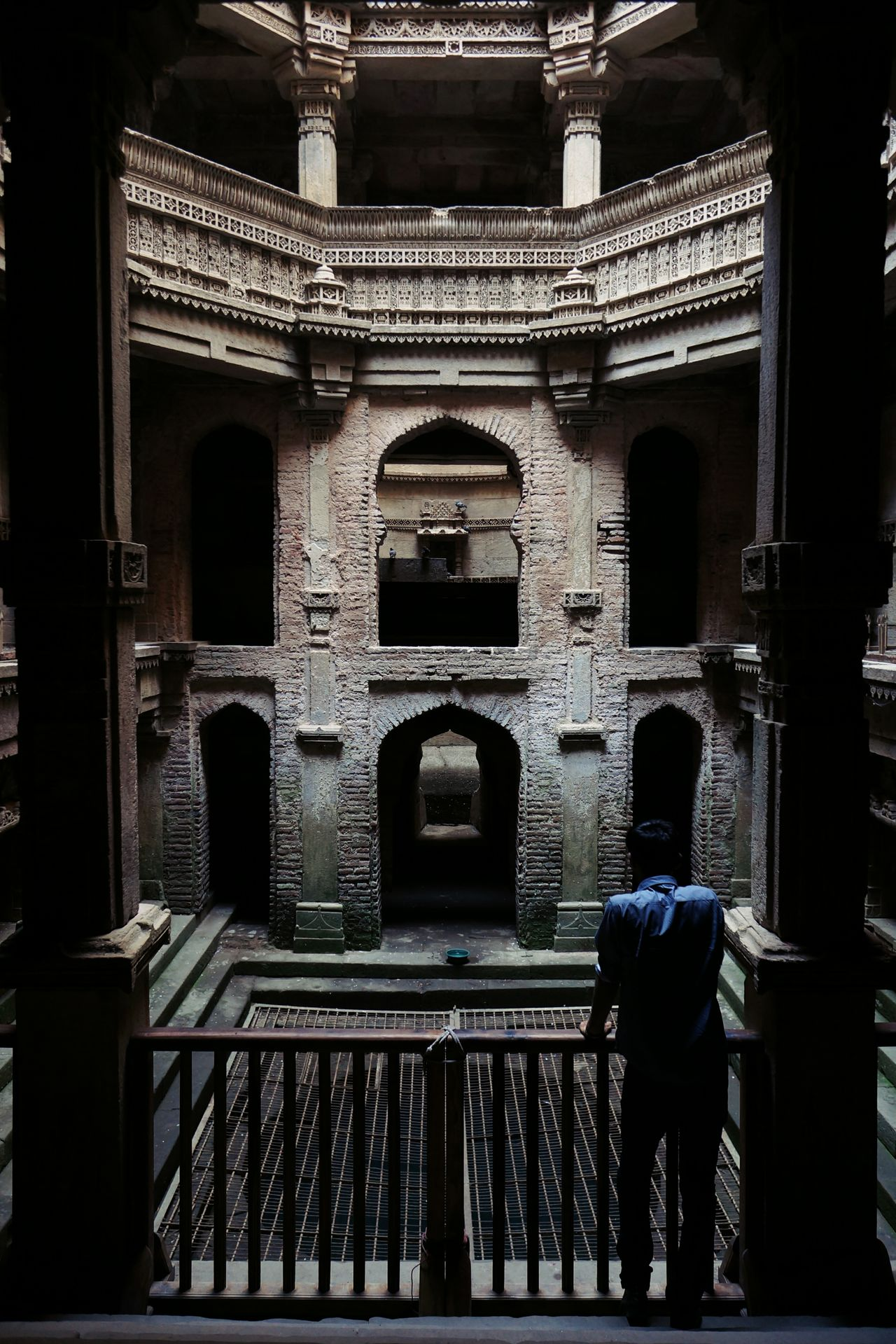Architecture Built Structure Real People Outdoors Day Adalaj Stepwell India Gujarat