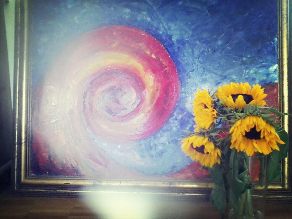 Taking Photos Yellow Flower Flower Power Paint Art