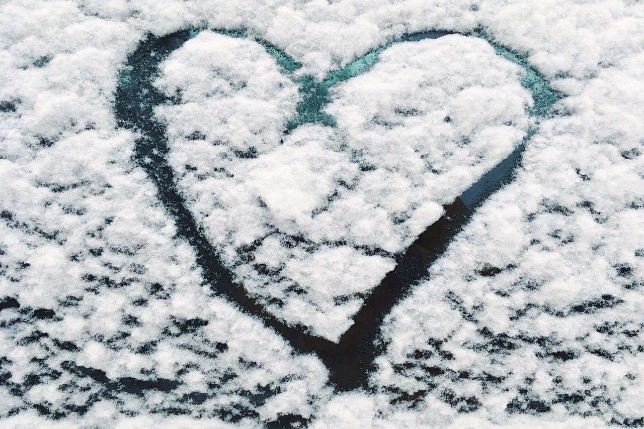 Heart Winter Cold Temperature Snow Weather White Color High Angle View Close-up Beauty In Nature Outdoors No People White Berlin Winter Real Photography Eyeemphoto Berlin Window White Background