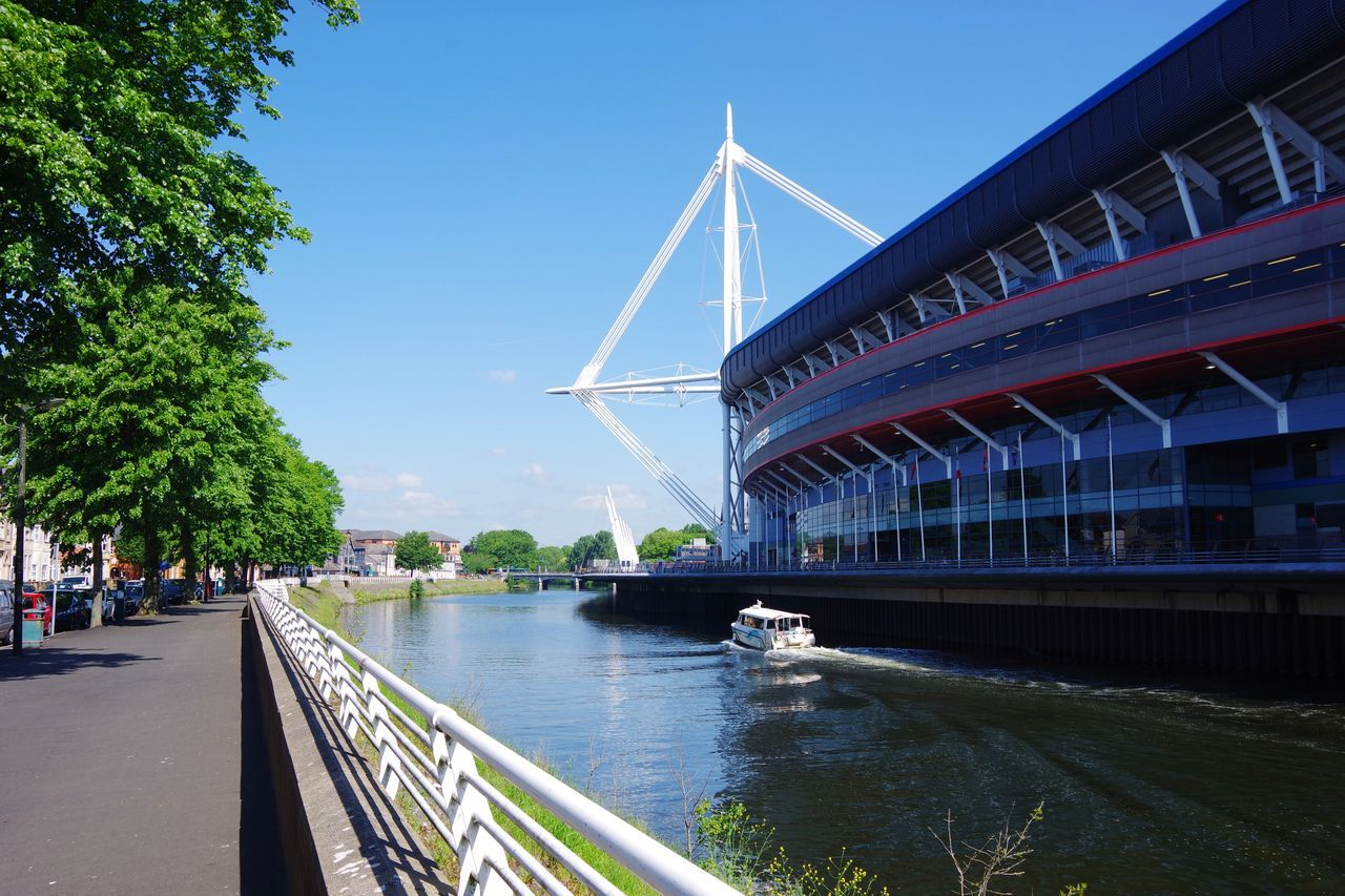 Architecture Built Structure Bridge - Man Made Structure Water Transportation City River Wales Cardiff Cymru-photography Champions League River Taff Taff Trail
