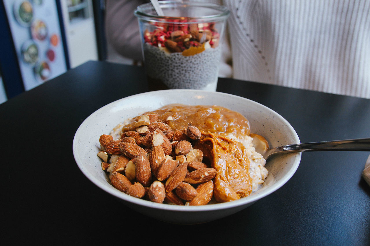 food and drink, food, table, indoors, freshness, breakfast, bowl, serving size, no people, close-up, corn flakes, healthy eating, ready-to-eat, granola, day