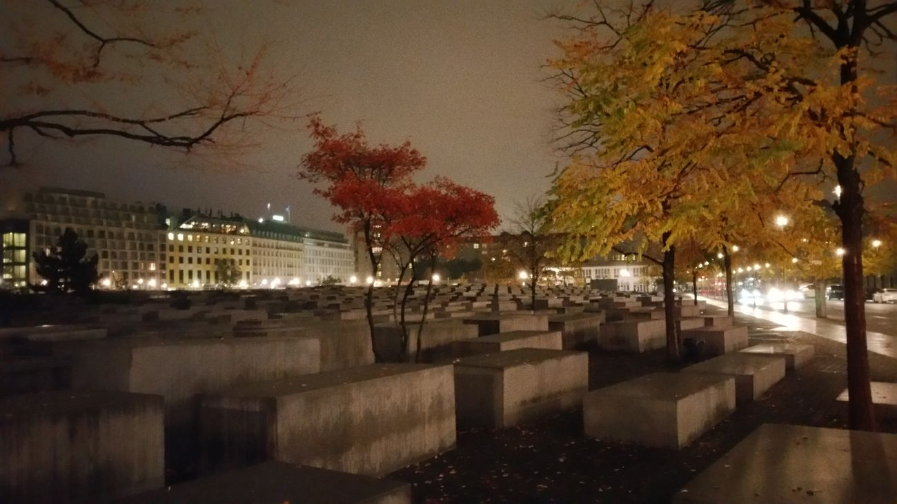 Memorial Berlin Memorial To The Murdered Jews Of Europe Travel Vacation Night Wet No People Outdoors Rainy Season 2015  EyEmNewHere