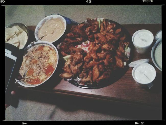 Wings Food Porn Chips And Dip Superbowl Snacks