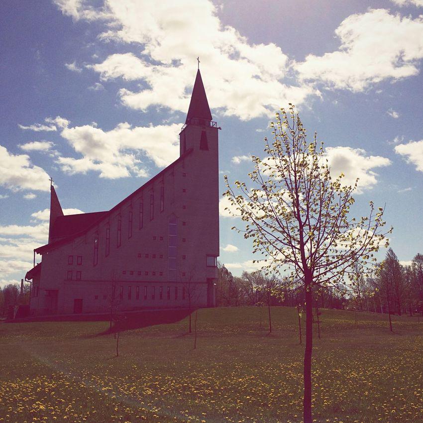 Check This Out Hanging Out Relaxing Taking Photos Taking Photos Lithuania Naujoji Akmene Church Trees Lietuva