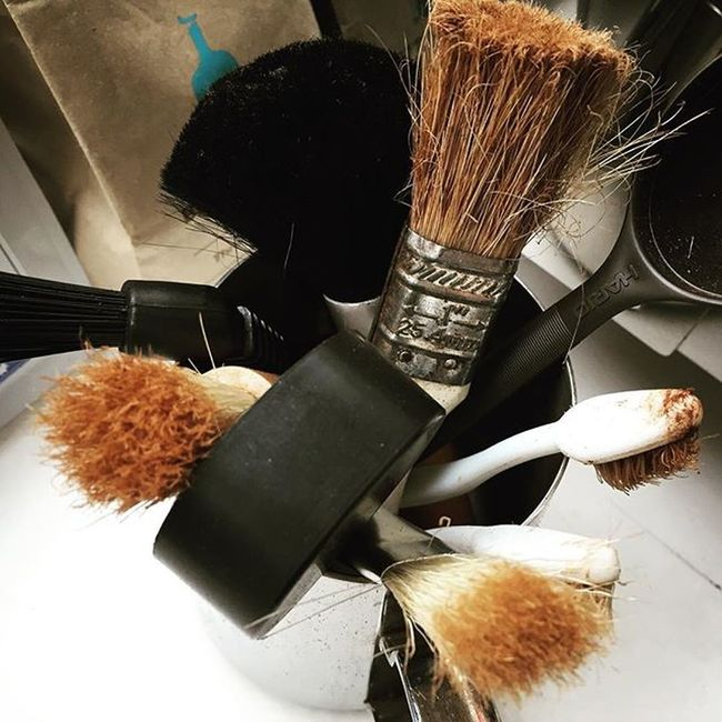 Brushes. Wholelattelove Coffeegeek