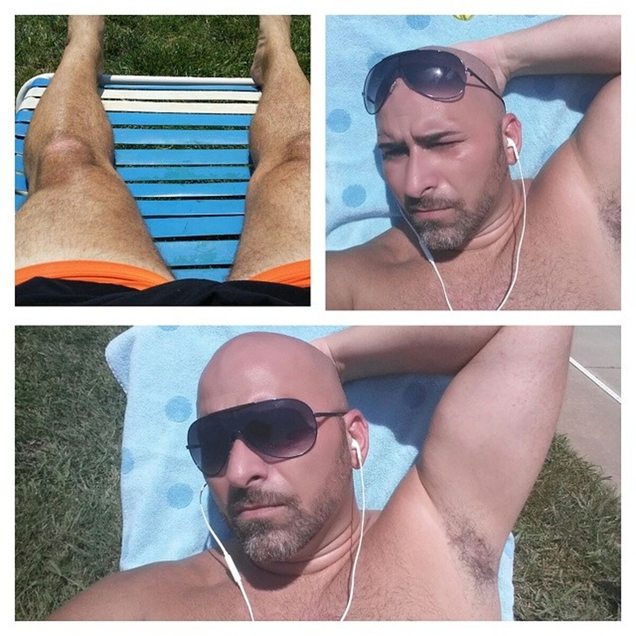 Tanning & Relaxing! Smiling , Puertorican , Gayrican , TBT  , thinking, gaycharlotte, healthyliving, healing, relaxing, gayitalian, gayman