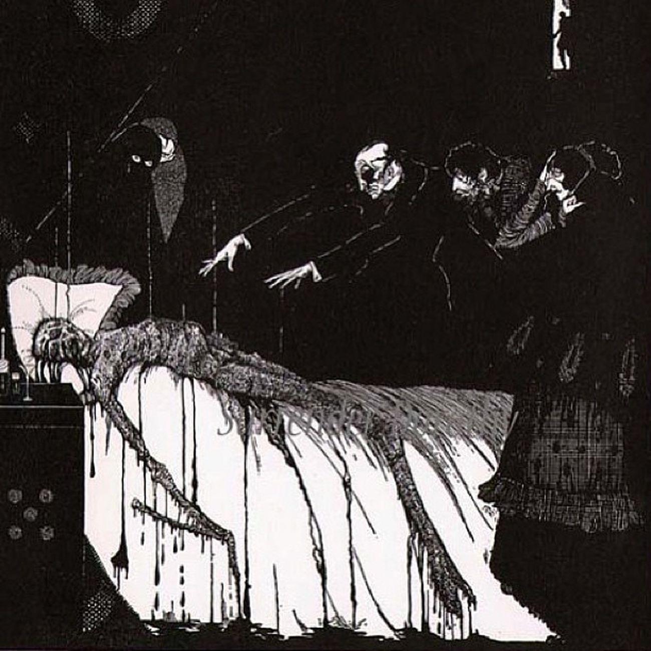 Edgaralanpoe Illustration Macabre Macabreart macabreandbeautifullygrotesque