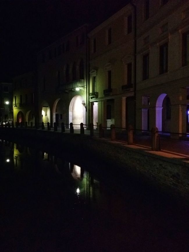 Showcase: February Night Photography Night Lights Night Shades Night Walks Treviso Italy Travel Traveling Travel Photography Architecture Arcades Canals Reflections And Shadows Mobile Photography Art Fineart Mobile Editing