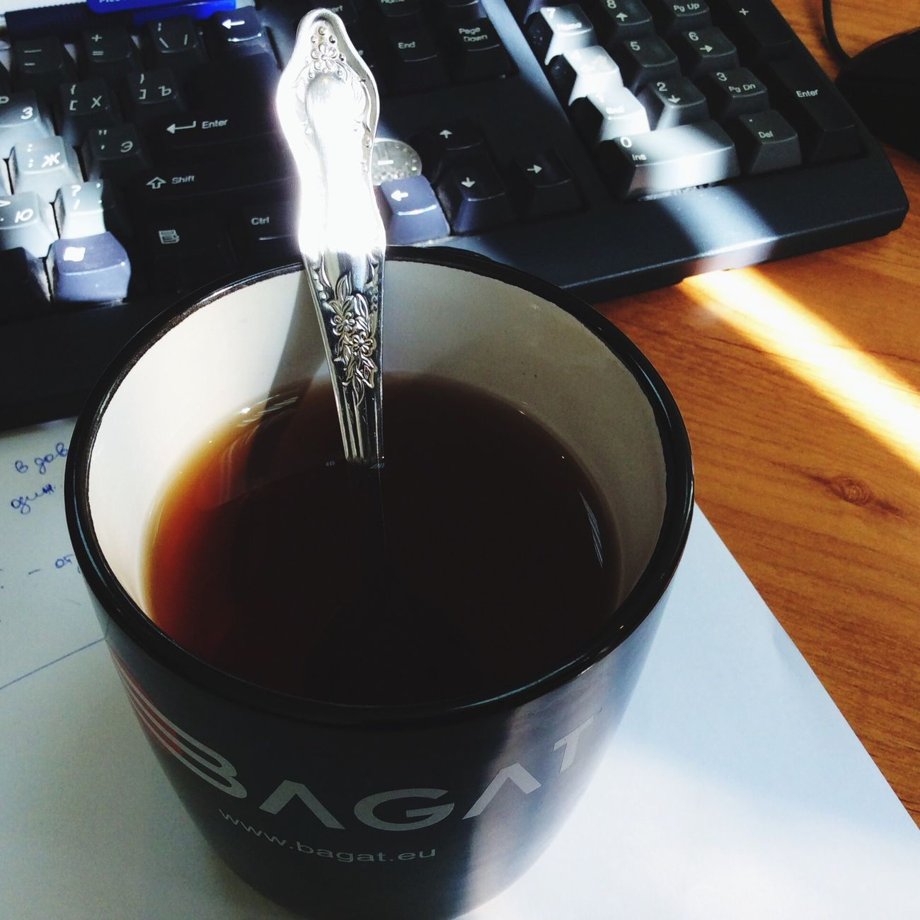 Working Drink Tea My Teatime For Today