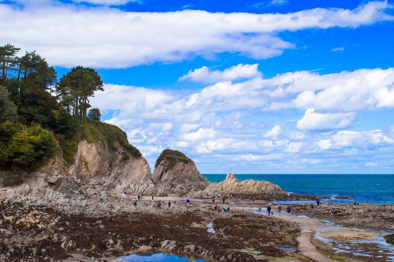Lee, Devon. A lovely place at the end of a fine walk and before a wonderful pint in a charming old pub. All-in-all ... Cool! Beach Cloud - Sky Sea Nature Sand Scenics Outdoors Rock - Object Sky Day Tranquility Water Landscape Blue Vacations Horizon Over Water Summer Trees And Sky Light Canon Canonphotography Live For The Story @canonuk 650d Devon