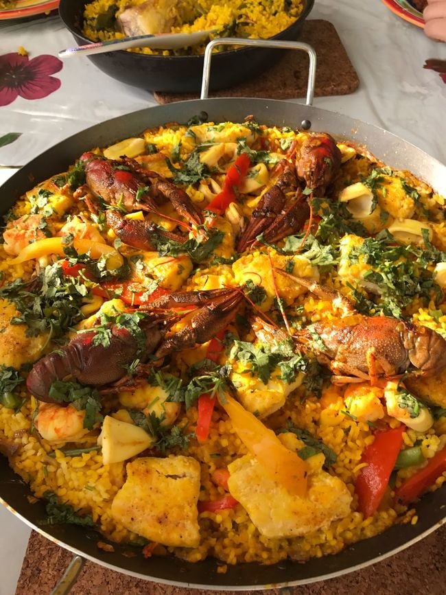 Food Paellas homemade Freshness Serving Size Seafoods Rice - Food Staple