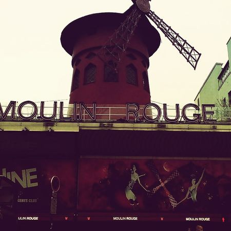 Paris France Moulin Rouge Paris Factory No People Outdoors Metal Industry