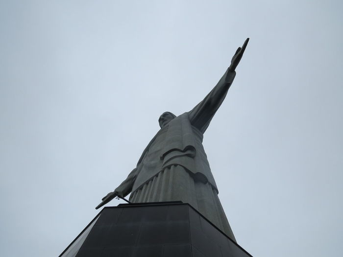 Brazil Christ The Redeemer Famous Place Low Angle View Rio Rio De Janeiro Statue Travel The World