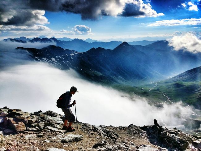 Hikingadventures ! ☁️🚶⛅ Hikingadventures Hiking Hello World Summer2016 Outdoor Photography The Essence Of Summer Landscape EyeEm Best Shots Sky And Clouds Mountain View Mountains Sky Summer Landscape_Collection Adventure Club