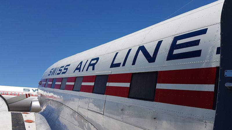 Swiss Swissair DC3 Airplane Aviation Verkehrshaus Luzern Flugzeug Blue Sky Himmel Hello EyeEm✌ Samsung Galaxy S7
