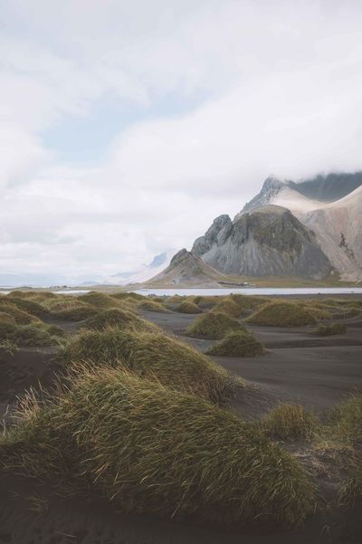 Beach Black Black Sand Black Sand Beach Cloud - Sky Day Iceland Landscape Mountain Nature Nature Reserve No People Outdoors Sand Sand Dune Scenics Sky Trip Vacation Water