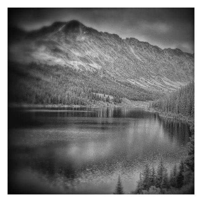 Blackandwhite Photography Black & White Mountains Lake On A Hike Black And White