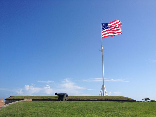 Beautiful day at Fort Macon State Park by Johnny Biltmore