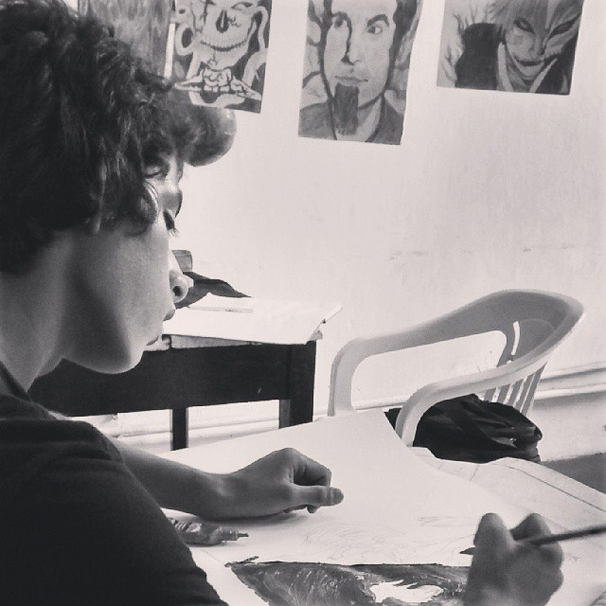 Igor Beausoleil pintando no Espacomacunaima Portoseguro Brazil Bahia art kunst draw sketch painting acrylic go thanks