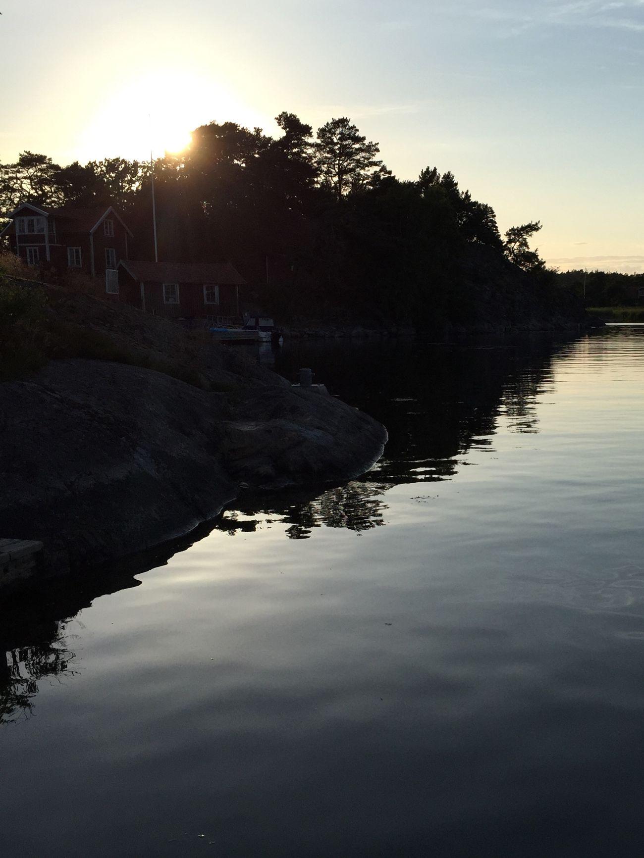 Sunset Stockholm Archipelago Sunset Water Reflections Relaxing Enjoying Life