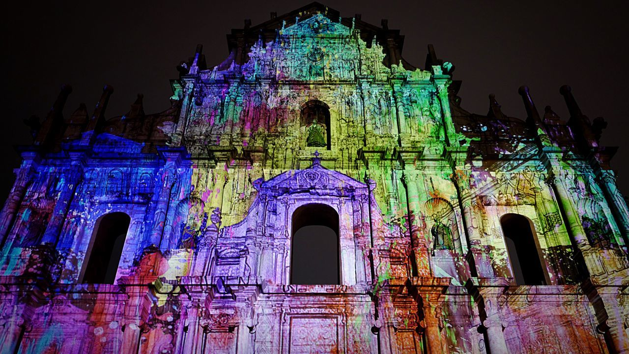 3D Mapping at Ruinas de S.Paulo Macau Leica Leicaq Nightphotography Streetphotography Eye4photography  EyeEm Best Shots EyeEm Gallery Hkiger Getting Inspired New Years Resolutions 2016 3D_Mapping