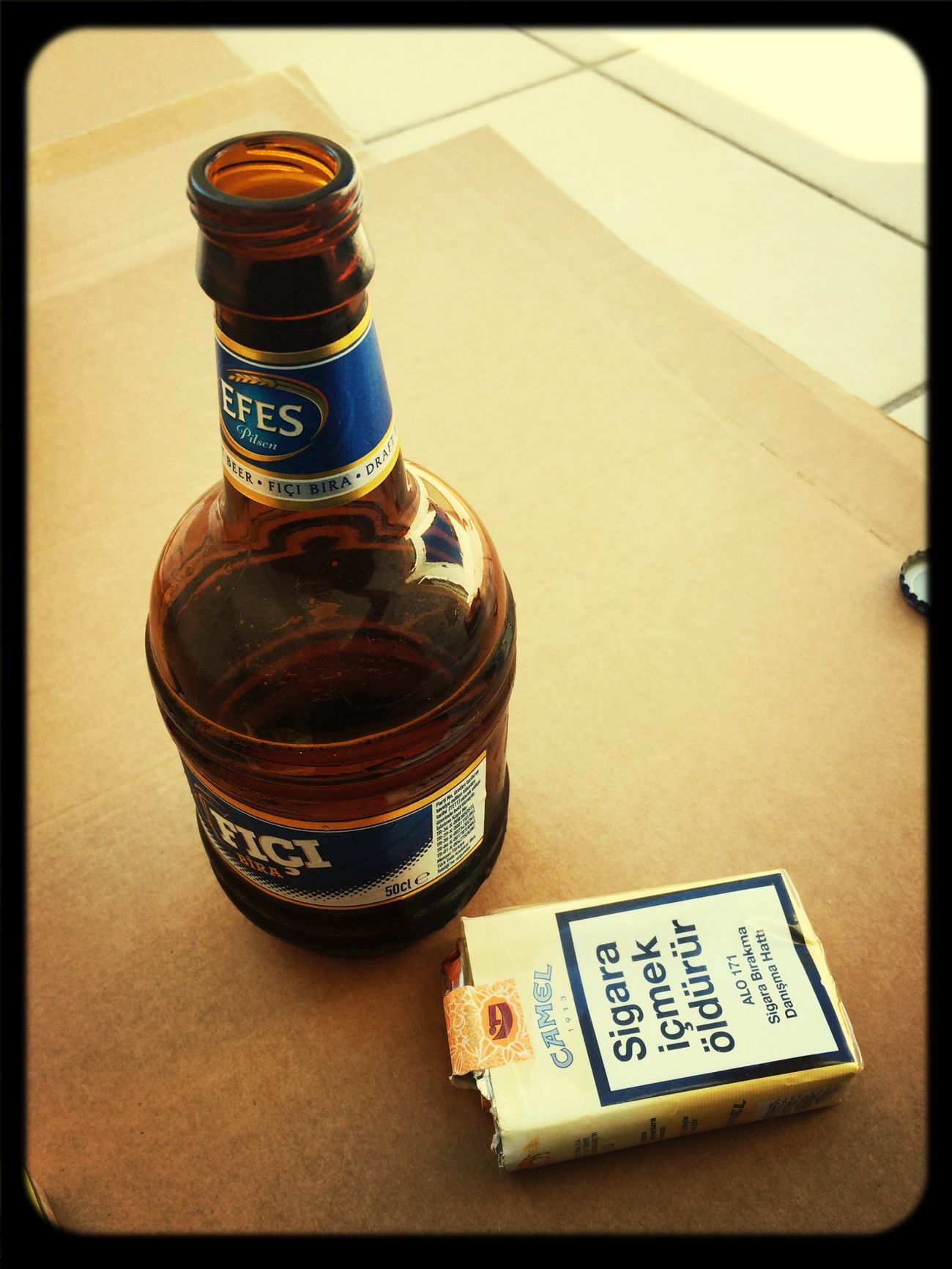 Beer Cigarettes Smoking Efes Pilsen