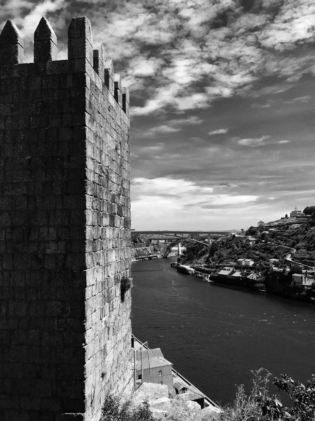 Architecture Built Structure Building Exterior Water Sky Outdoors Day No People Travel Destinations Sea Nature City History Portugal Porto EyeEmNewHere City Architecture The Week On EyeEm Black And White Friday EyeEm Ready