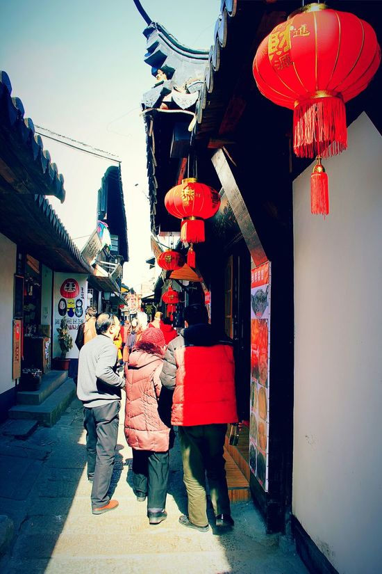 Buildings Architecture Architecture_collection Chinese Culture Old Style Old Town Old Street Old House Old Buildings Traveling Street Photography Streetphotography Place Of Interest Place I've Been Blue Sky Chinese New Year Lanterns Red Lanterns Chinese Red Travelling Travel Photography