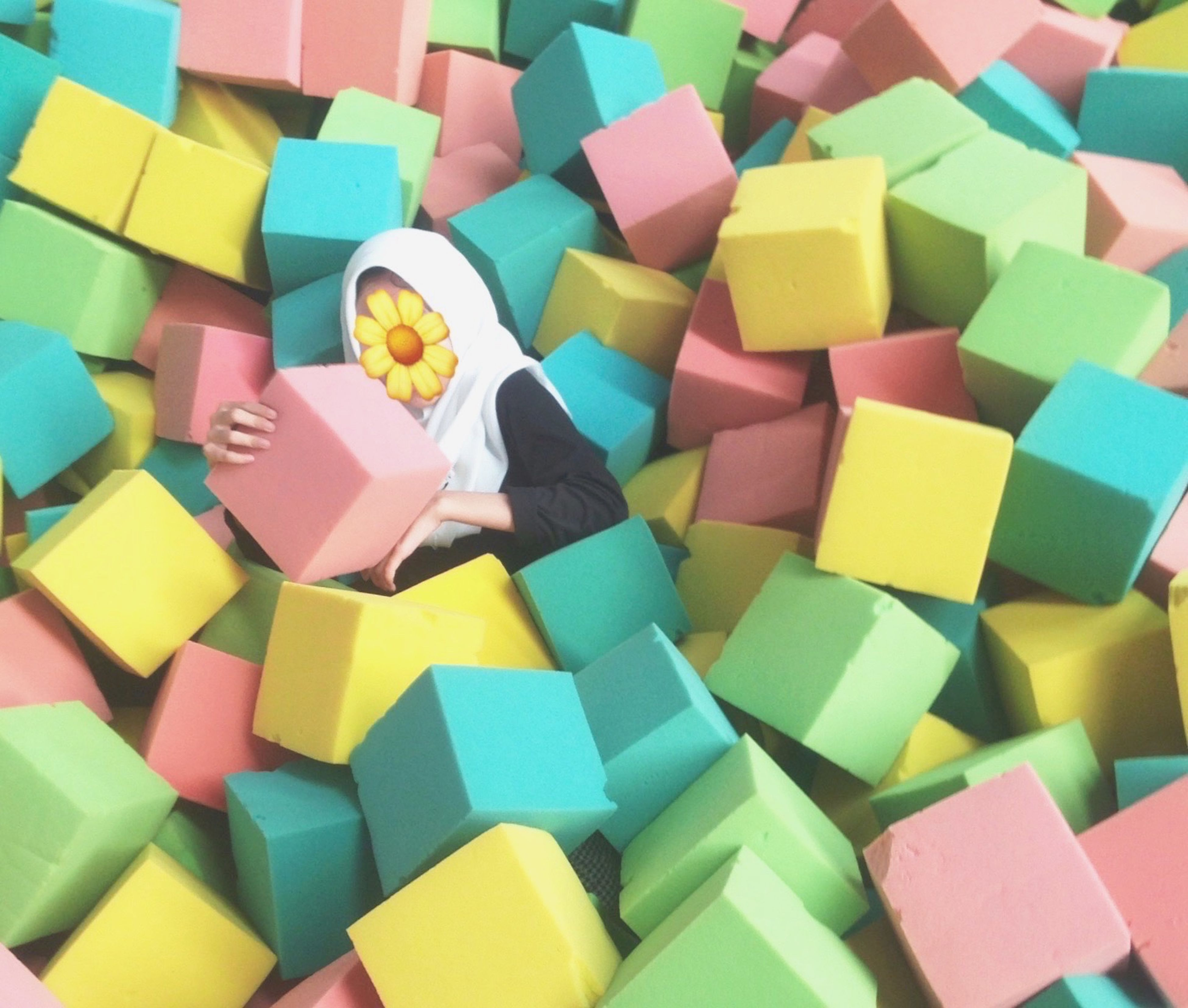 multi colored, large group of objects, colorful, indoors, toy block, abundance, close-up, adhesive note, variation, no people, day