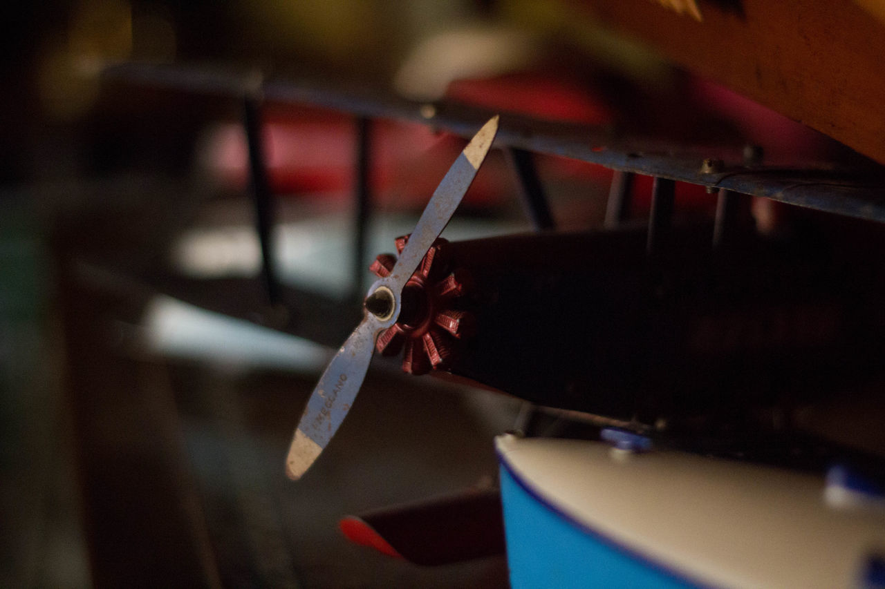 Antique Biplane Byplane Close-up Day Focus On Foreground Meccano No People Propeller Propeller Plane Selective Focus Toy