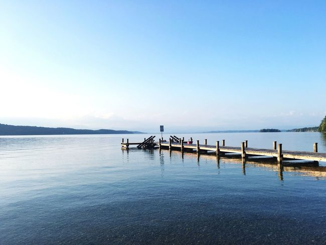 Water Pier Sea Blue Tranquil Scene Copy Space Tranquility Scenics Waterfront Clear Sky Jetty Nature Beauty In Nature Day Long Seascape No People Outdoors Ocean The Way Forward