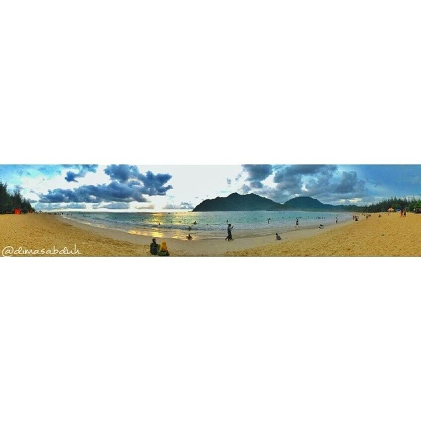 Instaandroid Instadroid Snapseed Beach Sand Sea Mountains People Swimming Holliday Vacation Sky Bluesky Sunset Acehbesar Aceh Iloveaceh Lampuukbeach Visitbandaaceh Visitaceh Visitbandaceh Iloveindonesia Pantailampuuk