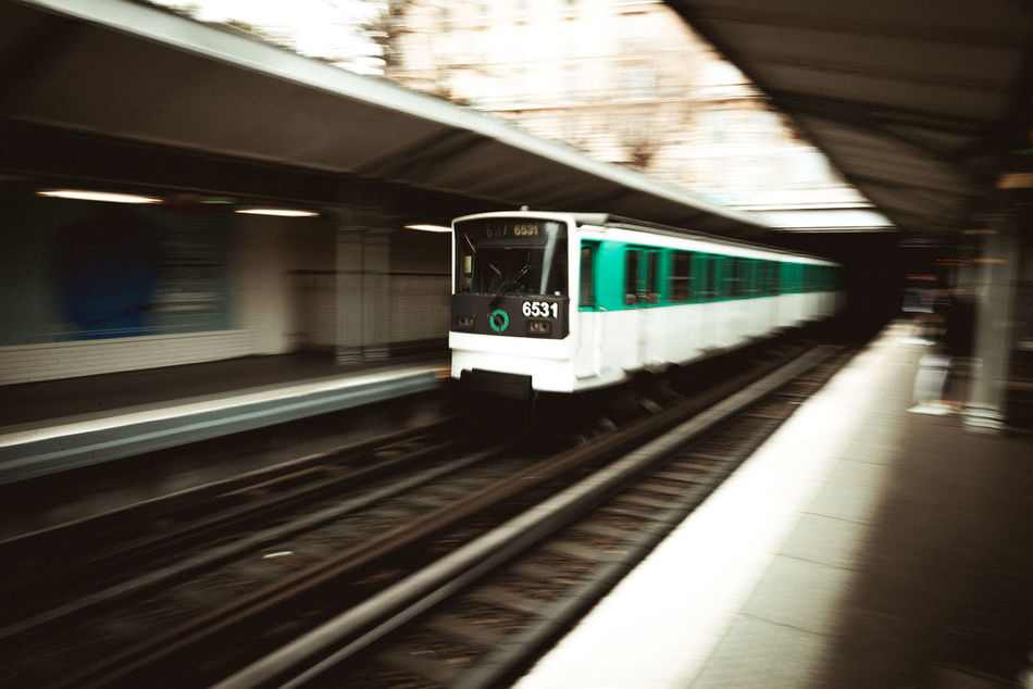moving on. Day France Indoors  Metro Motion No People Paris Passy Public Transportation Railroad Station Railroad Station Platform Subway Train Train - Vehicle Transportation