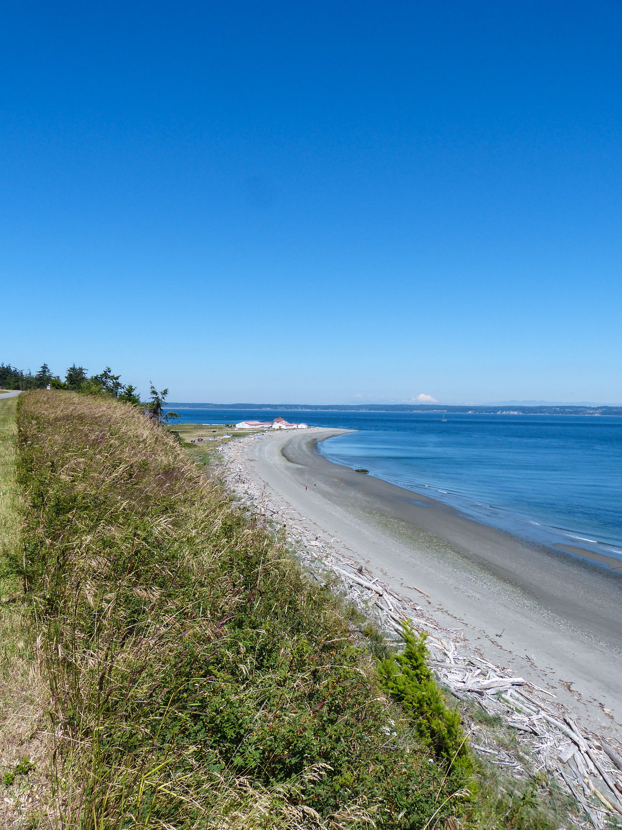 Beach Beach Photography Beachphotography Beauty In Nature High Angle View Horizon Over Water Mt. Baker Puget Sound, Washington Sea Shore Tranquil Scene Water