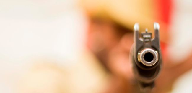 Close-up Cop Gun GunControl Horizontal Indoors  No People Pistol Police Policeman Rifle