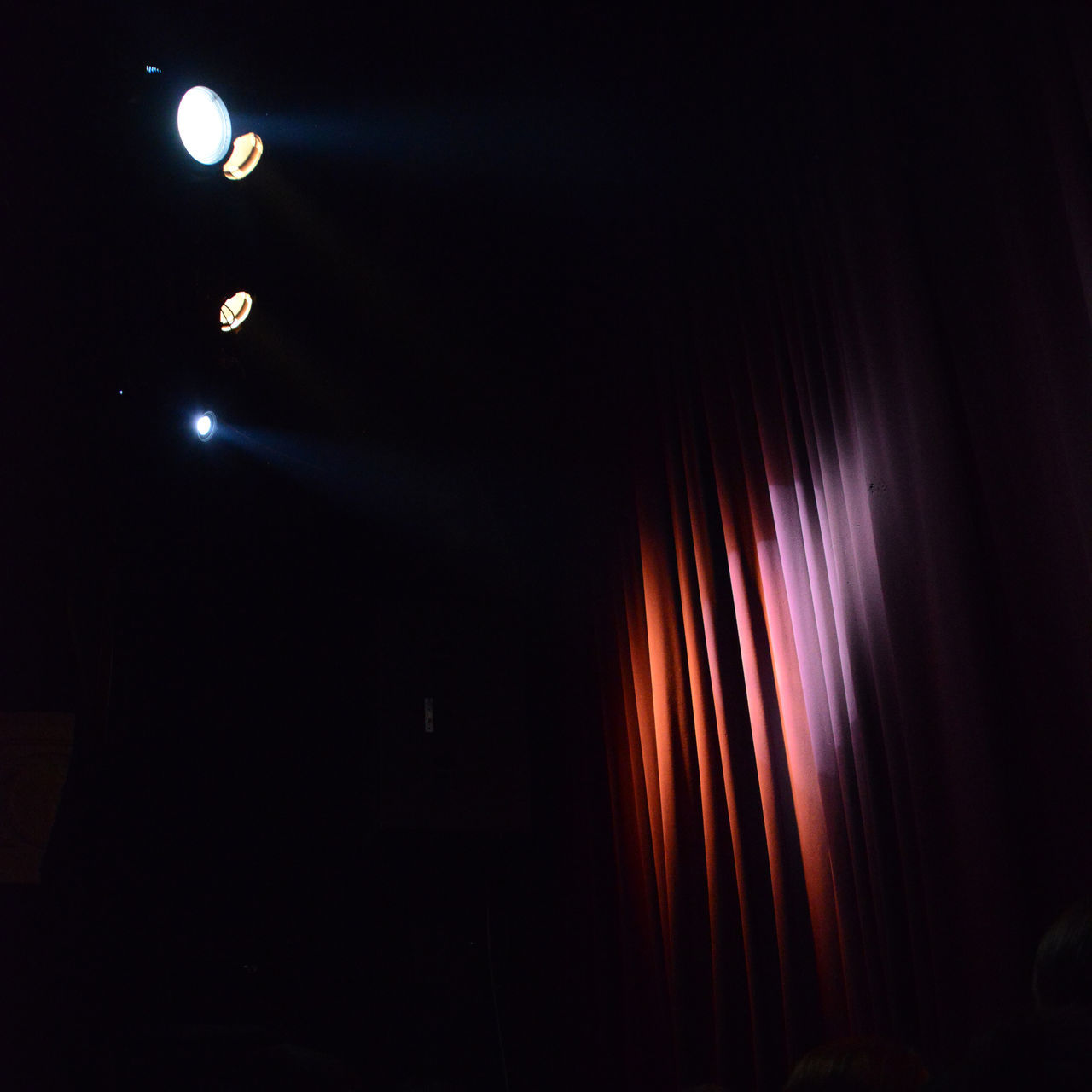 Before Blixa Bargeld and Teho Teardo live Bank Lights Concert Concert Photography Curtain Dark Illuminated Indoors  Lighting Equipment No People Performance Side Scenes Slips Stage Wing Wing Flats Wings