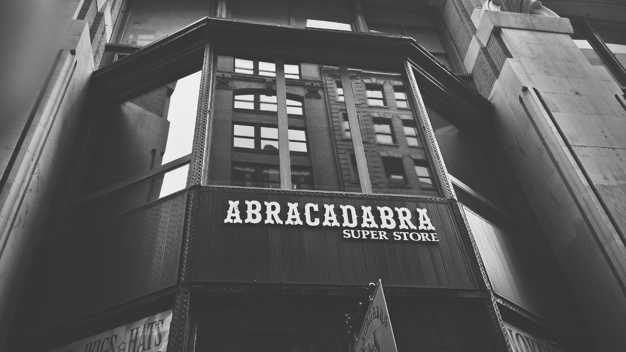 ABRACADABRA. *POOF* Black & White Magic Hour Magicstore