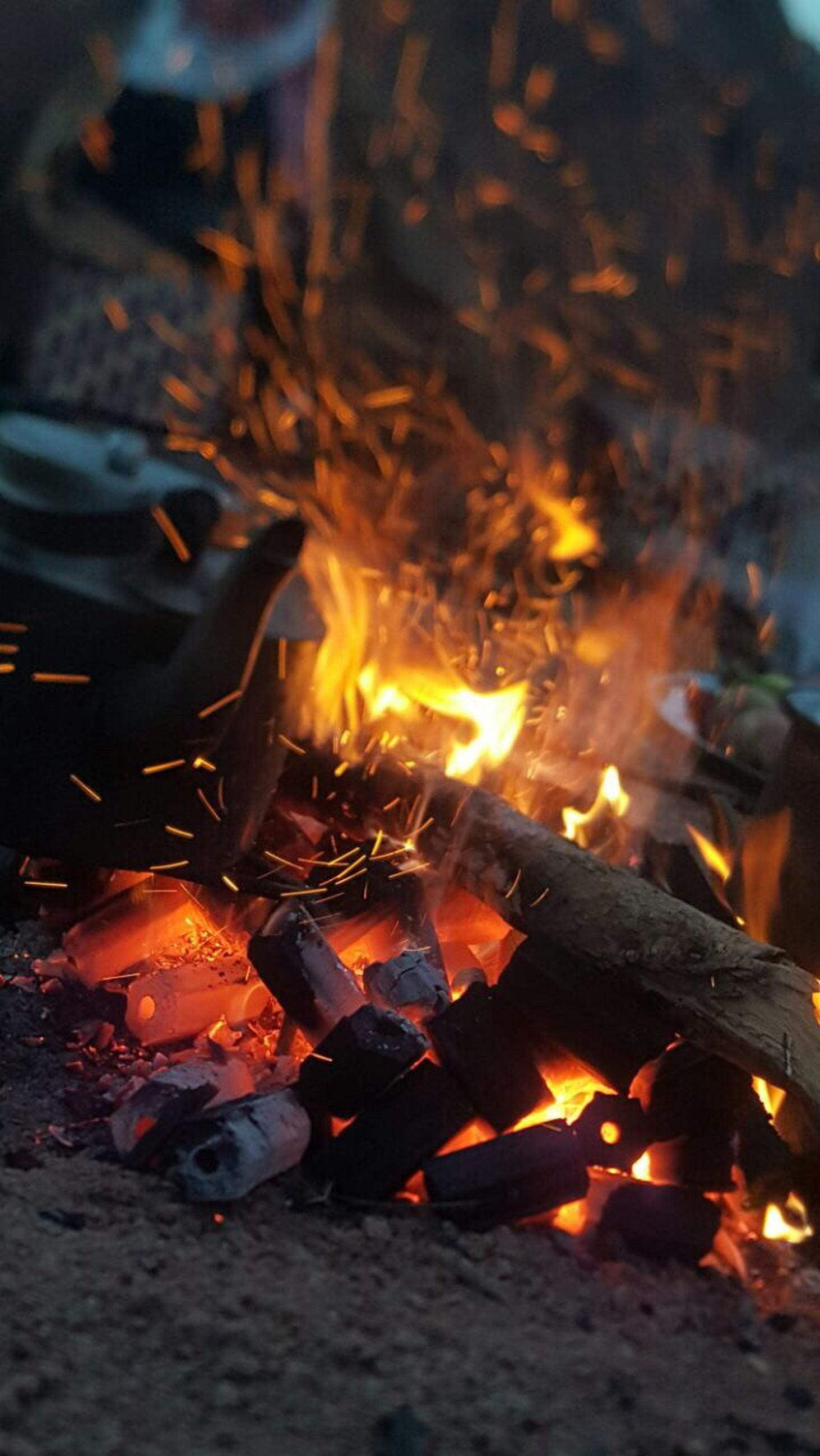 flame, fire - natural phenomenon, burning, heat - temperature, bonfire, night, no people, close-up, outdoors, motion, nature