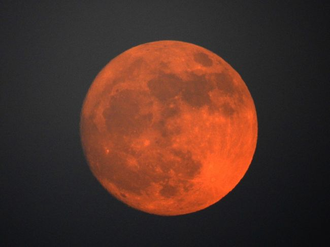Moon Astronomy Night Beauty In Nature Circle Full Moon Nature Scenics Moon Surface Majestic Planetary Moon Space Outdoors Tranquil Scene Tranquility No People Sky Red Space Exploration Clear Sky