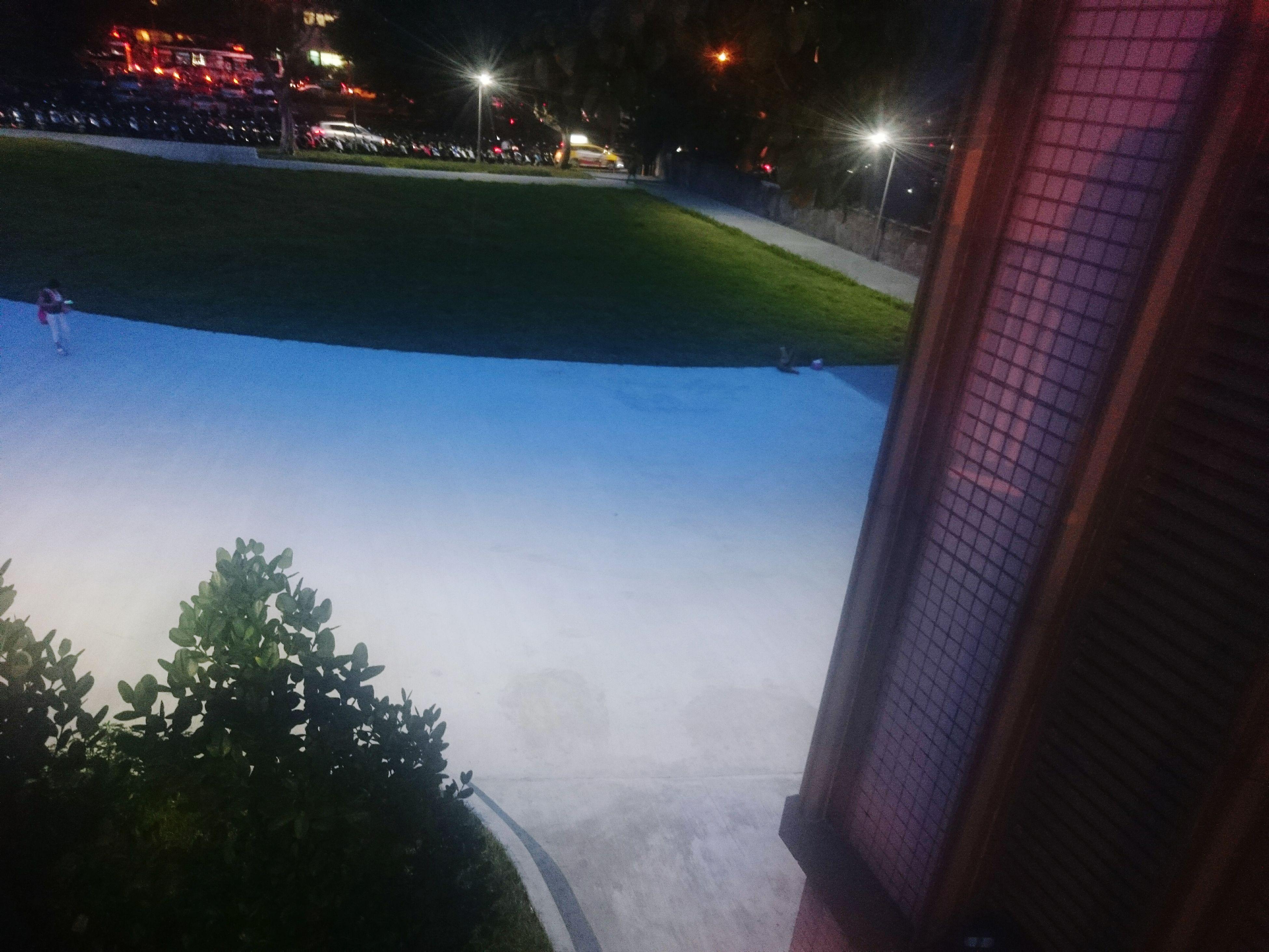 illuminated, window, transparent, glass - material, street light, night, blue, water, sky, nature, dark, tranquility